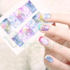 2X Adesivo sticker Aurora nail art decorazioni unghie unghia trasferimento acqua