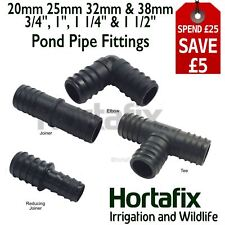 """Pond Pipe fittings 3/4"""", 1"""" 11/4"""" 11/2"""" Int - Tee, Elbow, Joiner. Hydroponics"""