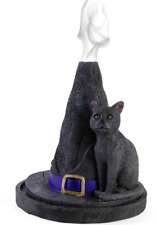 Lisa Parker Witches Hat Cat Incense Cone Burner Holder Wiccan Pagan Gothic Gry2