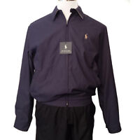 "POLO Ralph Lauren Bomber Jacket Men Size S Purple Color NWT (25""x25""x24"")"