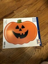 Lot of 5 Hallmark Pumpkins decorations Halloween Paper Window Class Decor new