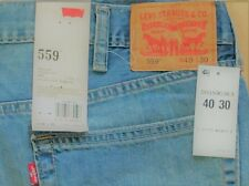 Levi's Men's New 559 40X30 Blue Jeans Relaxed Fit Straight Leg LoRise 0363