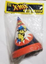 "Vintage 1993 Wolverine ""X-MEN"" Cone Party Hats 8 ct Marvel NEW!!!"