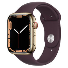 Apple Watch Series 7, 45mm, GPS + Cellular [2021] - Gold Stainless Steel Case