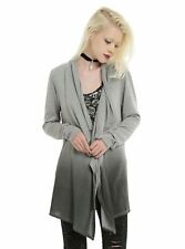 New Without Tags Hottopic Midnight Hour Skull Gray Ombre Cardigan Sweater Small