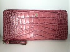Auth PATRICK COX Pink Patent Leather Long Wallet
