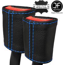 Cuciture blu 2x Cintura in pelle copre si adatta a LANCIA YPSILON 843 2003-2010