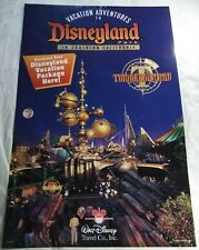 "Walt Disney DISNEYLAND Tomorrowland Adventures Travel Industry Poster 24"" X 36"""