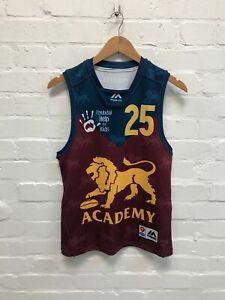 Brisbane Lions Majestic Women's AFL Training Shirt- Size 10- Maroon  - Sample
