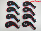 Long Neck Neoprene Head Covers with Zipper - Set of 8: 4,5,6,7,8,PW,A,SW (no 9)