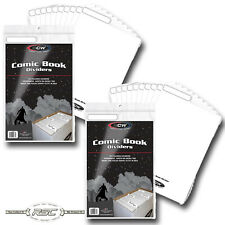50 - BCW White Plastic Comic Book Dividers - Fold Down Index Tab - Acid Free