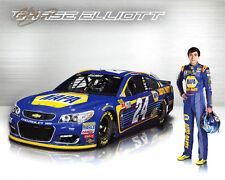 2017 CHASE ELLIOTT **SIGNED** #24 NAPA MONSTER ENERGY CUP SERIES NASCAR POSTCARD