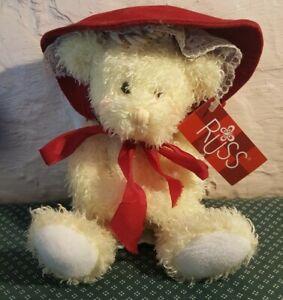 RUSS BERRIE BABY Prayer Bear Plush Angel Wings w Bonnet #2484 Nursery Decor Rare