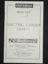 UNIVERSAL Electric Labour Savers - Appliances, 1927 Trade Brochure, Advertising