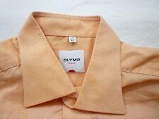 E7847 Olymp Luxor Businesshemd Kombimanschette 43 lachs glänzend Unifarben Neuw.