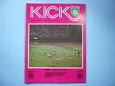 1976 VANCOUVER WHITECAPS VS SEATTLE SOUNDERS KICK SOCCER FOOTBALL PROGRAM NICE!!