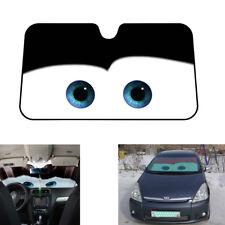 New Aluminium Foil Cartoon Big Eyes Pattern Car Front Windshield Sun Visor Black
