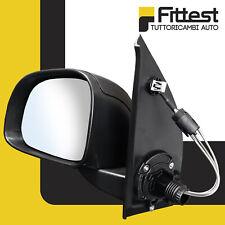 Specchietto Retrovisore Fiat Panda 2010-2012 Sinistro SX Nero Lato Guida