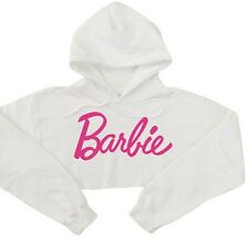 Hot BARBIE Print Long Sleeve Pullover Crop Top Sweater Hoodies Sweatshirt UK