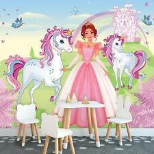 Vlies Fototapete XXL Tapete Poster 236400FW Einhorn Prinzessin Kinderzimmer Für