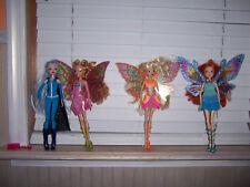 Winx Club GOOD VS EVIL Enchantrix 4 Dolls Icy Stella Bloom Flora AS PICTURED E