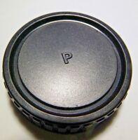 """P"" Rear Lens Cap for Pentax M42 Screw Mount"