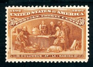 USAstamps Unused VF US 1893 Columbian Expo At La Rabida Scott 239 NG HR