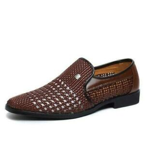 Men's Breathable Hollow Out Slip On Loafers Formal Office Dress Sandals Shoes