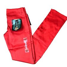 Dickies Classic 5 Pocket Skinny Pant Juniors Size 3 Red Low Rise 4th of July NWT