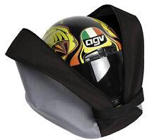 Borsa porta casco in polyestere 600D con tracolla e tasca porta guanti.