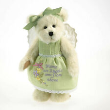 "Boyds Bears 10"" Heartfelt Angel Mom Bear w/Heartfelt Message On Dress New/2011"