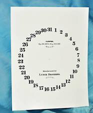 Authentic Ithaca Calendar Clock Lynch Bros. Paper Dial