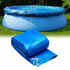 Round Swimming Pool Cover Tarpaulin for Garden Paddling Fast Set Family Pools YF