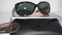 RAY BAN New Sunglasses Jackie Ohh Black Green Classic G-15 RB4101 601 58 135