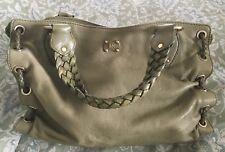 MICHAEL KORS Avocado Leather Woven Detailed Hobo Handbag Purse Bag-VERY NICE