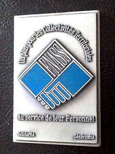 MEDAILLE PLAQUETTE F.N.A.S.S. à LA VILLE - AU SERVICE DE LEUR PERSONNEL-J. BALME