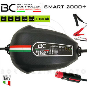 Chargeur de Batterie Mainteneur Bc. Intelligent 2000 + Régulateur 12V Scooter