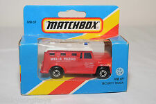 MATCHBOX MB69 MB 69 SECURITY TRUCK WELLS FARGO RED MINT BOXED