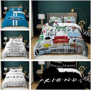 Literature Art Bed Friends Quilt Duvet Cover Set Pillowcase Single Double Size