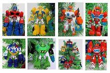 "TRANSFORMERS Christmas Tree Ornament Set  Plastic Shatterproof Ornaments 4"" Tall"