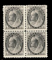 #74 Canada 1898 Queen Victoria 1/2 Cent stamps MNH  block 4 - cv $40   Fine