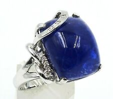 Seriously Drop-dead Gorgeous!!! 14ct WHITE GOLD, TANZANITE & DIAMOND Ring