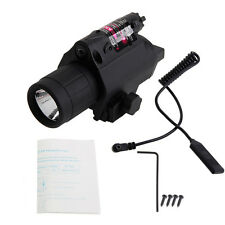 Red Laser Sight LED Flashlight Tactical Light 2 in 1 Combo for Picatinny Rail