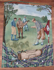 Early Golfing Scene 2001 Wall Hanging – Great Picture! Nice See!