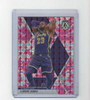 2019/20 Panini Mosaic Pink Camo Lebron James Parallel Card #8 MVP LBJ LAKERS!