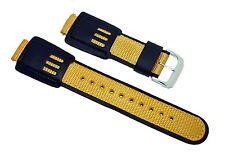 16mm Casio G-Shock Style Black/Yellow Watch Band/Strap