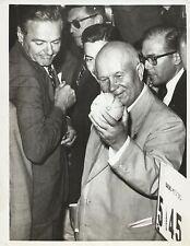 NIKITA KHRUSHCHEV & HENRY CABOT LODGE Original Vintage TELEPHOTO 1959