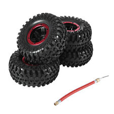 "Pneumatic Air Tire 2.2"" Inflatable W/Alloy Beadlock 1/10 RC Off Road D90 Crawler"