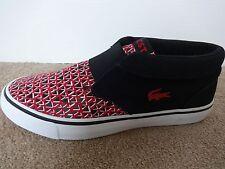 Lacoste Vaultstar Slip CSP sample shoes sneakers black/red uk 8 eu 42 us 9 NEW