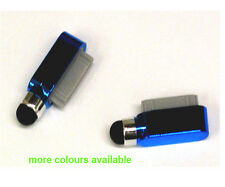 Dock Charge Port Dust Cover Stylus For iPad 2 3 iPhone 4 4G 4S 3G 3Gs Dark Blue